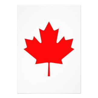 Editable Background Color, Canada Flag Souvenir Custom Invite