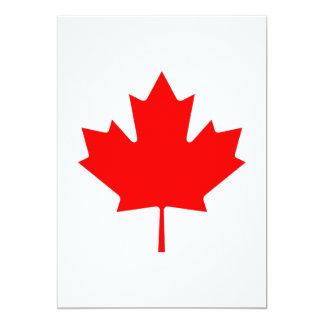 Editable Background Color, Canada Flag Souvenir 5x7 Paper Invitation Card