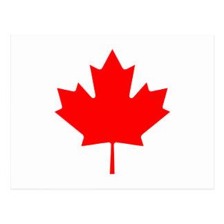 Editable Background Color, Canada Flag Souvenir Postcard