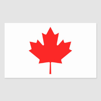 Editable Background Color, Canada Flag Souvenir Rectangular Sticker