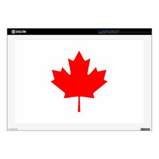 """Editable Background Color, Canada Flag Souvenir 17"""" Laptop Decals"""
