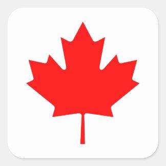 Editable Background Color, Canada Flag Souvenir Square Sticker