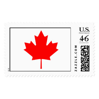 Editable Background Color Canada Flag Stamp