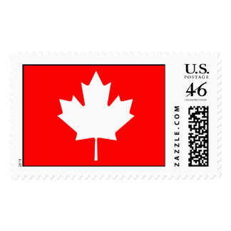 Editable Background Color Canada Maple Souvenir Postage Stamps
