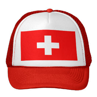 Editable background Color, The Flag of Switzerland Mesh Hats