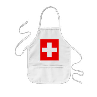 Editable background Color, The Flag of Switzerland Kids' Apron