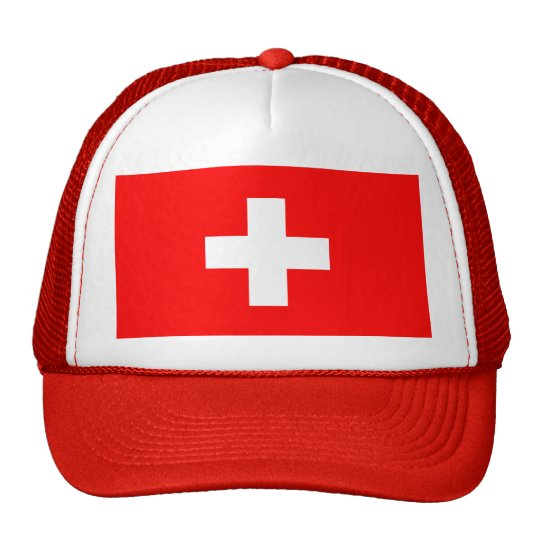 Editable background Color, The Flag of Switzerland Trucker Hat