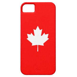 Editable Background Color, White Canada Maple leaf iPhone 5 Cover