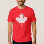 Editable Background Color, White Canada Maple Leaf Dresses
