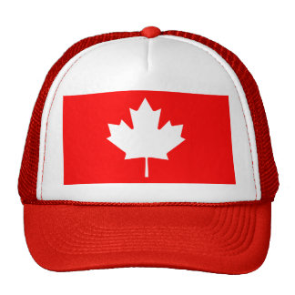 Editable Background Color, White Canada Maple Leaf Mesh Hats