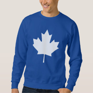 Editable Background Color, White Canada Maple Leaf Sweatshirt