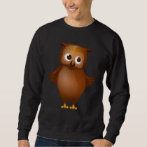 Editable Background - Cute Brown Owl Sweatshirt