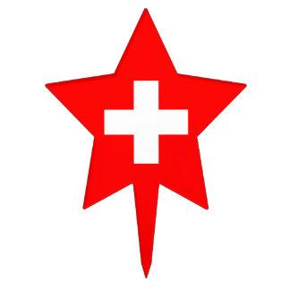 Editable Background, The Flag of Switzerland Cake Pick