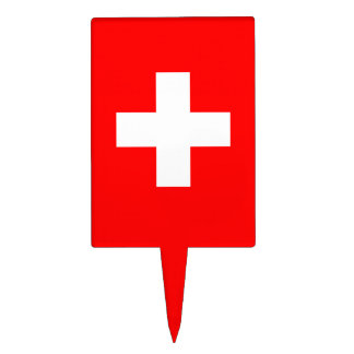 Editable Background, The Flag of Switzerland Cake Topper