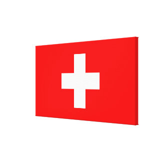 Editable Background, The Flag of Switzerland Canvas Prints