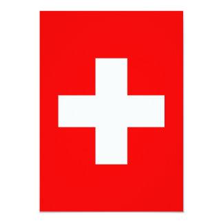 Editable Background, The Flag of Switzerland Card