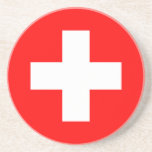 Editable Background, The Flag of Switzerland Drink Coaster
