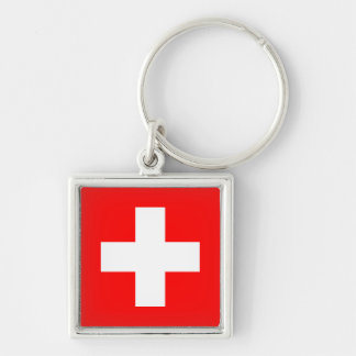 Editable Background, The Flag of Switzerland Keychain