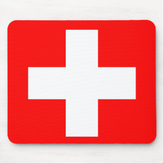Editable Background, The Flag of Switzerland Mouse Pad
