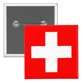 Editable Background, The Flag of Switzerland Pinback Button