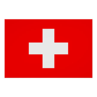 Editable Background, The Flag of Switzerland Poster