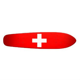 Editable Background, The Flag of Switzerland Skateboard
