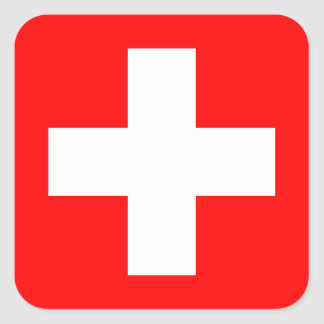 Editable Background, The Flag of Switzerland Square Sticker
