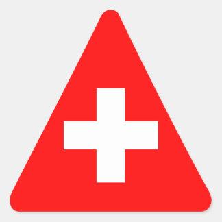 Editable Background, The Flag of Switzerland Sticker