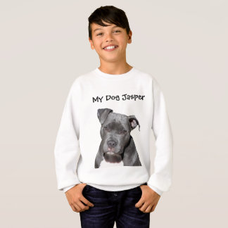 Editable Black Pitbull Sweatshirt
