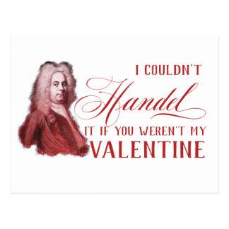 EDITABLE Classical Music w/ Handel Valentine Card