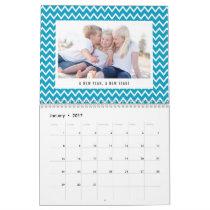 Editable Color and Caption Modern Photo Calendar