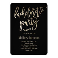 EDITABLE COLOR Bachelorette Party BRUSHED GLIMMER Card