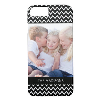 EDITABLE COLOR Chevron Custom Photo iPhone Case