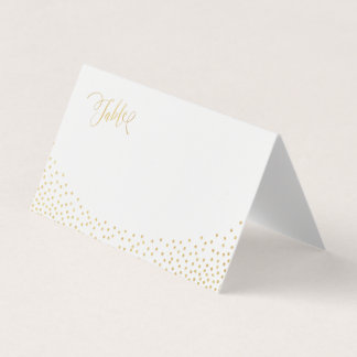 Editable color luxe faux gold glitter place cards