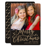 Editable Color Merry Christmas Holiday Photo Card at Zazzle