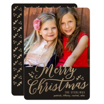 Christmas Themed EDITABLE Color Merry Christmas Holiday Photo Card