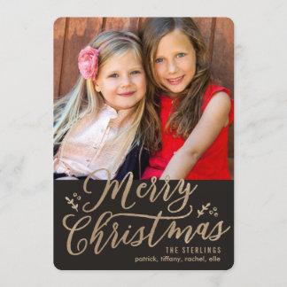 EDITABLE Color Merry Christmas Holiday Photo Card