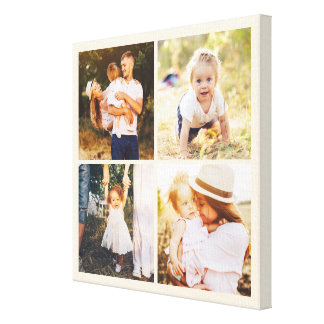Editable Color Photo Box Custom Wrapped Canvas