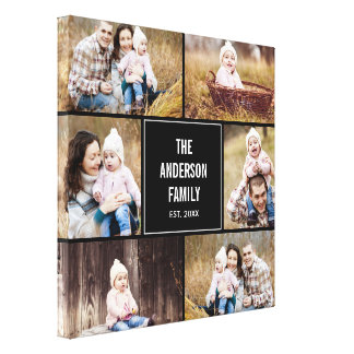 Editable Color Square Custom Photo Canvas