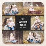 Editable Color Square Photo Collage Coasters<br><div class='desc'>Photo gifts make the best gifts! Easily personalized with your text and/or photo(s) for a custom look. Designed by Berry Berry Sweet. View more designs at www.berryberrysweet.com</div>