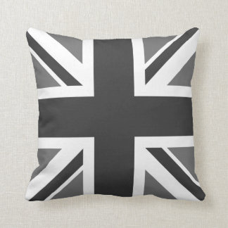 Editable Color Union Jack Flag Throw Pillow