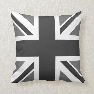 Editable Color Union Jack Flag Throw Pillow