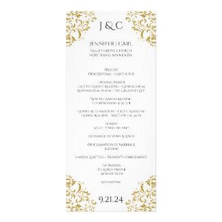 *EDITABLE DESIGN COLOR Nadine Wedding Program-Tea Rack Card