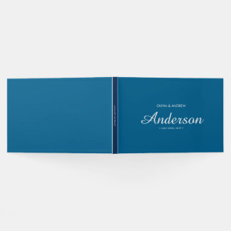 Editable Dual Color Wedding Script Guest Book