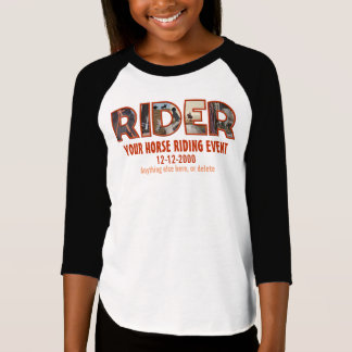 Editable, (English style) horse riding competition T-Shirt