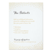 Editable faux gold glitter confetti detail card