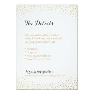 Editable faux gold glitter confetti detail card