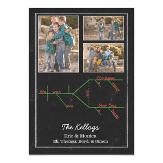 EDITABLE Grammatically Diagrammed Merry Christmas Card