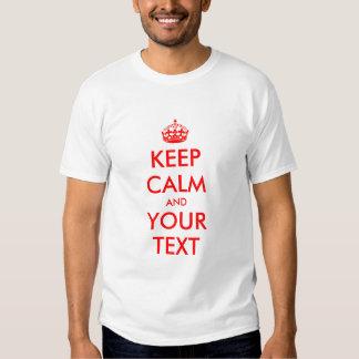 Editable guarde las camisetas tranquilas para los playera