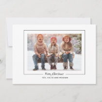 Editable Modern Merry Christmas Family Photo Holiday Card